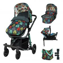 Cosatto Giggle Quad Pram & Pushchair Whole 9 Yards Bundle-Hare Wood