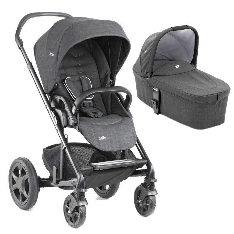 Joie Chrome DLX Pushchair & Carrycot-Pavement