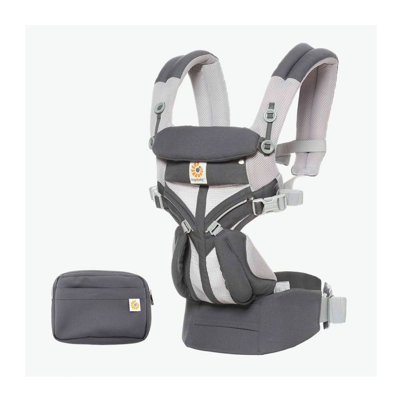 Ergobaby Omni 360 Cool Air Mesh Baby Carrier-Carbon Grey