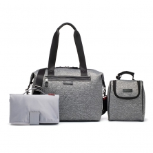 Storksak Stevie Luxe Scuba Changing Bag-Grey Marl