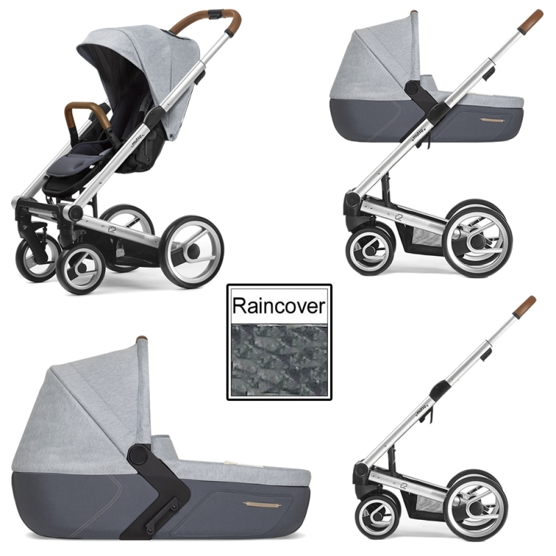 Mutsy i2 Pure 3in1 Silver Chassis-Cloud