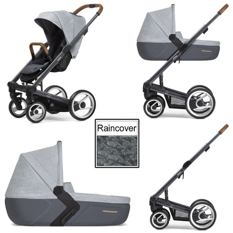Mutsy I2 Pure 3in1 Dark Grey Chassis Cloud