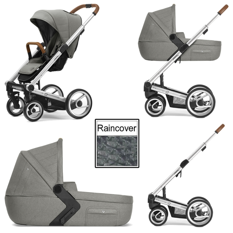 Mutsy I2 Heritage 3in1 Silver Chassis Moss Green