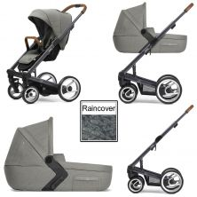 Mutsy i2 Heritage 3in1 Dark Grey Chassis-Moss Green