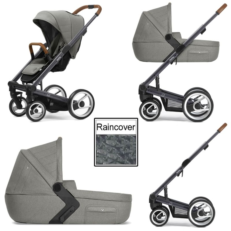 Mutsy I2 Heritage 3in1 Dark Grey Chassis Moss Green