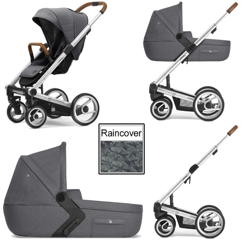 Mutsy I2 Heritage 3in1 Silver Chassis Stone Grey