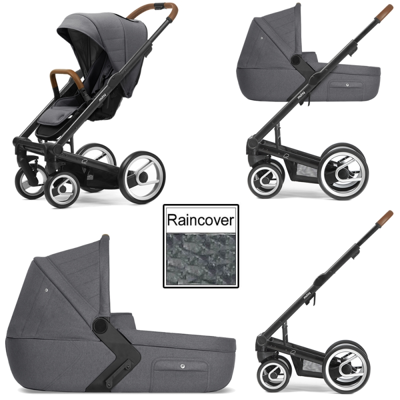 Mutsy i2 Heritage 3in1 Black Chassis-Stone Grey