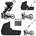 Mutsy i2 Heritage 3in1 Silver Chassis-Black
