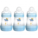 MAM Anti Colic Bottle 160ML (Pack of 3)-Blue