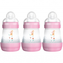 MAM Anti Colic Bottle 160ML (Pack of 3)-Pink