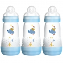 MAM Anti Colic Bottle 260ML (Pack of 3)-Blue