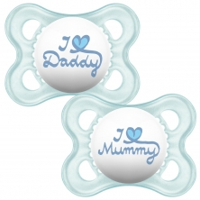 MAM Style 0m+ Soother (Pack of 2)-Blue