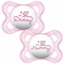 MAM Style 0m+ Soother (Pack of 2)-Pink