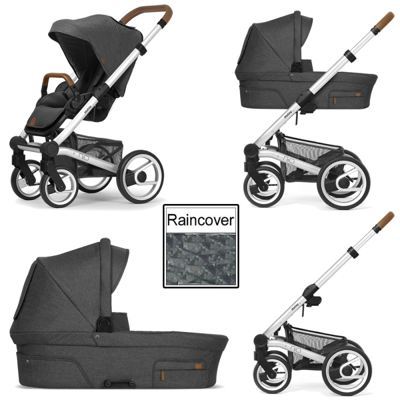 Mutsy Nio North 3in1 Silver Chassis-Grey