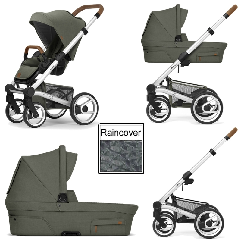 Mutsy Nio Adventure 3in1 Silver Chassis-Sea Green (CLEARANCE)