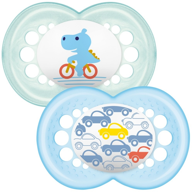 MAM Original 12m+ Soother (Pack Of 2) Blue