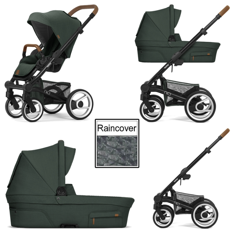 Mutsy Nio Adventure 3in1 Black Chassis Pine Green