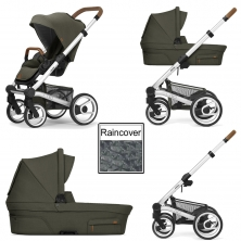Mutsy Nio Adventure 3in1 Silver Chassis-Leaf Green