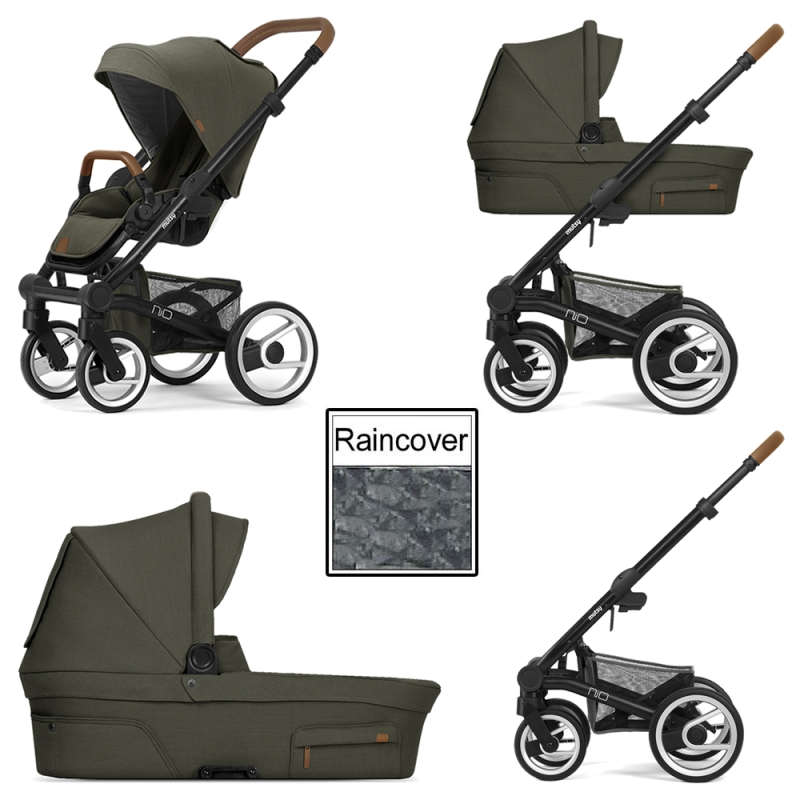 Mutsy Nio Adventure 3in1 Black Chassis Leaf Green