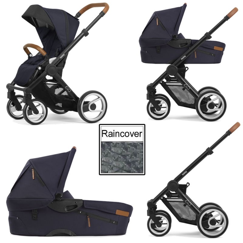 Mutsy Evo Urban Nomad 3in1 Black Chassis-Deep Navy