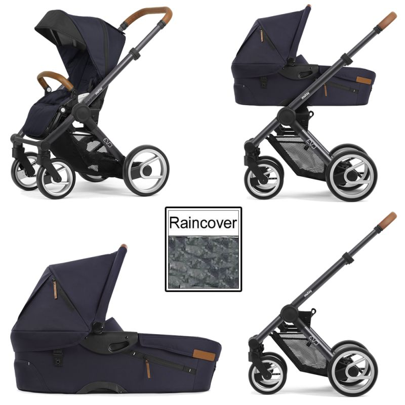 Mutsy Evo Urban Nomad 3in1 Dark Grey Chassis Deep Navy