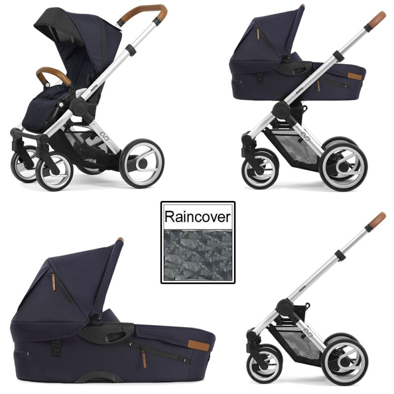 Mutsy Evo Urban Nomad 3in1 Silver Chassis-Deep Navy
