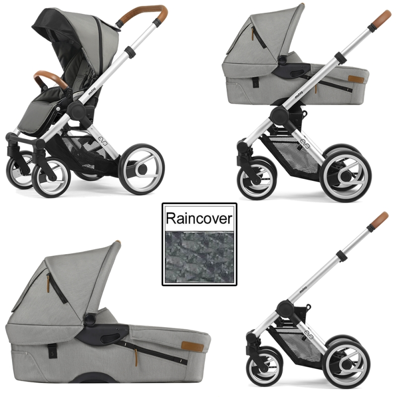 Mutsy Evo Urban Nomad 3in1 Silver Chassis-Light Grey