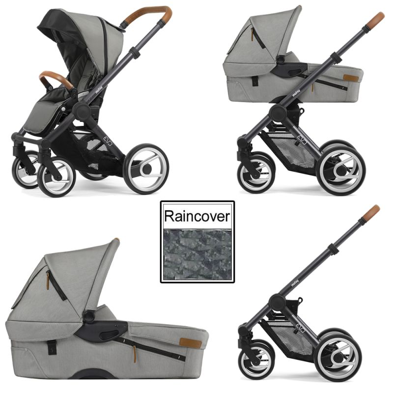 Mutsy Evo Urban Nomad 3in1 Dark Grey Chassis Light Grey