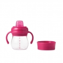 Oxo Tot Soft Spout Sippy Cup Set-Raspberry