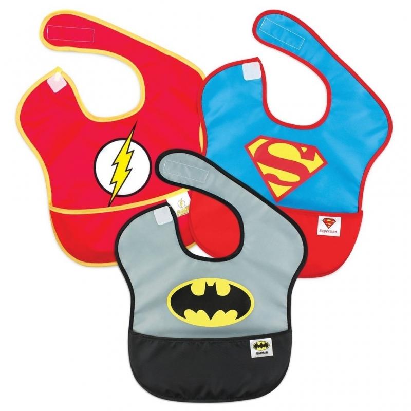 Bumkins Super Bib 3 Pack DC Comics Super Friends-Batman/Superman/The Flash