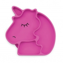 Bumkins Silicone Grip Dish-Purple Unicorn