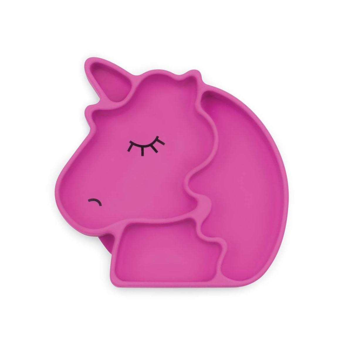 Bumkins Silicone Grip Dish-Purple Unicorn