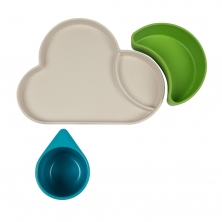 Tum Tum Eco Cloud Bamboo Dining Gift Set-Blue/Green
