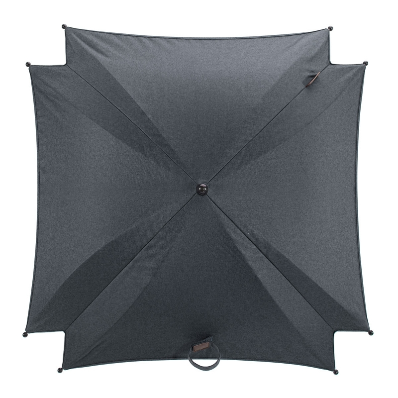 Silver Cross Wave Parasol-Slate