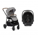 Joie Versatrax 2 in 1 Pushchair + Car Seat-Grey Flannel