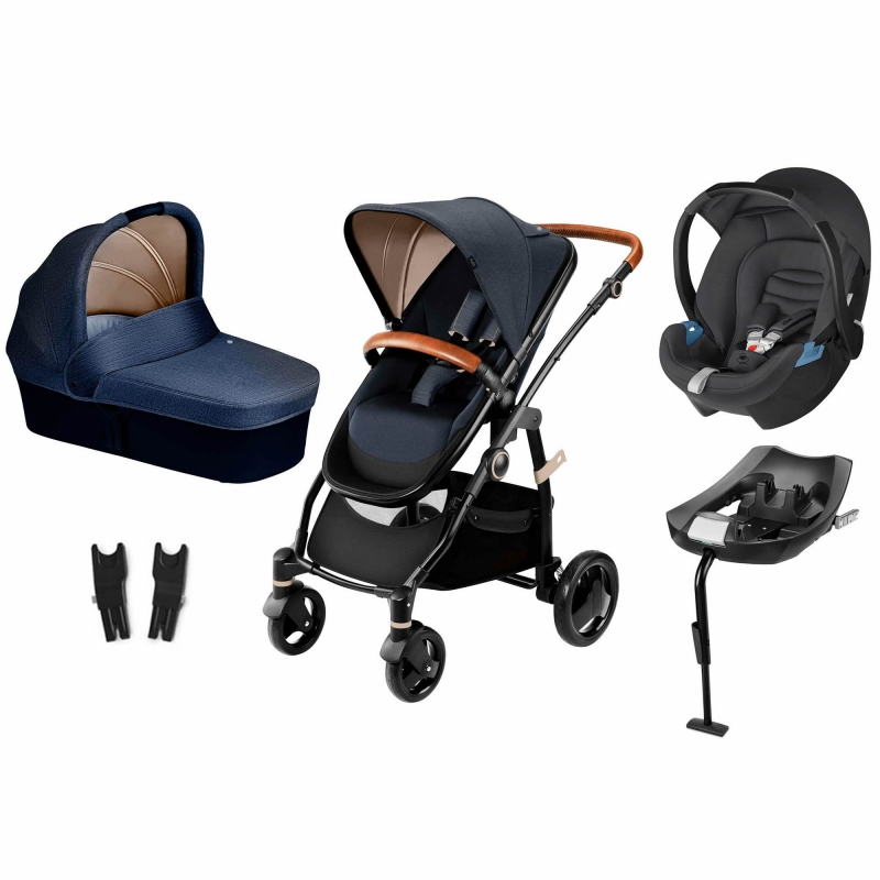 CBX Leotie Lux 3in1 Travel System with ISOFIX Base-Jeansy Blue