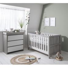 Tutti Bambini Modena 2 Piece Room Set-Ash Grey and White
