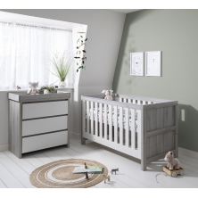 Tutti Bambini Modena 2 Piece Room Set-Ash Grey and White