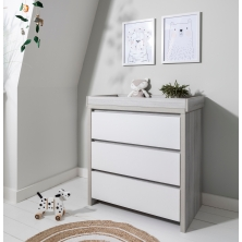 Tutti Bambini Modena Chest Changer-Ash Grey and White