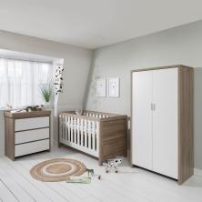 Tutti Bambini Modena 3 Piece Room Set-White and Oak