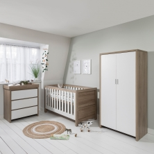 Tutti Bambini Modena 3 Piece Room Set-White and Oak