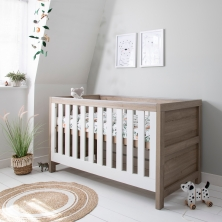 Tutti Bambini Modena Cot Bed-White and Oak