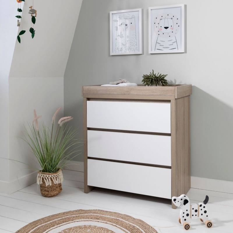 Tutti Bambini Modena Chest Changer-White and Oak