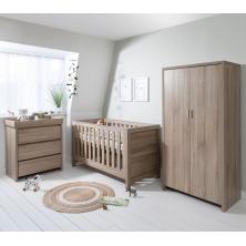 Tutti Bambini Modena 3 Piece Room Set-Oak+ FREE Tutti Bambini Cotbed Mattress Worth £39.00!