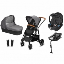CBX Leotie Lux 3in1 Travel System with ISOFIX Base-Comfy Grey