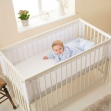 Purflo Breathable Cot Bumper-Tear Drop