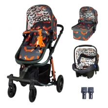 Cosatto Giggle Quad Travel System-Charcoal Mister Fox
