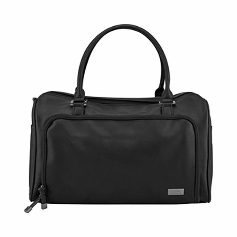 isoki Double Zip Satchel Changing Bag-Black