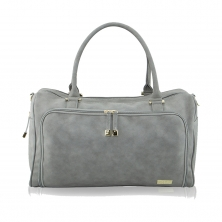 Isoki Double Zip Satchel Changing Bag-Stone