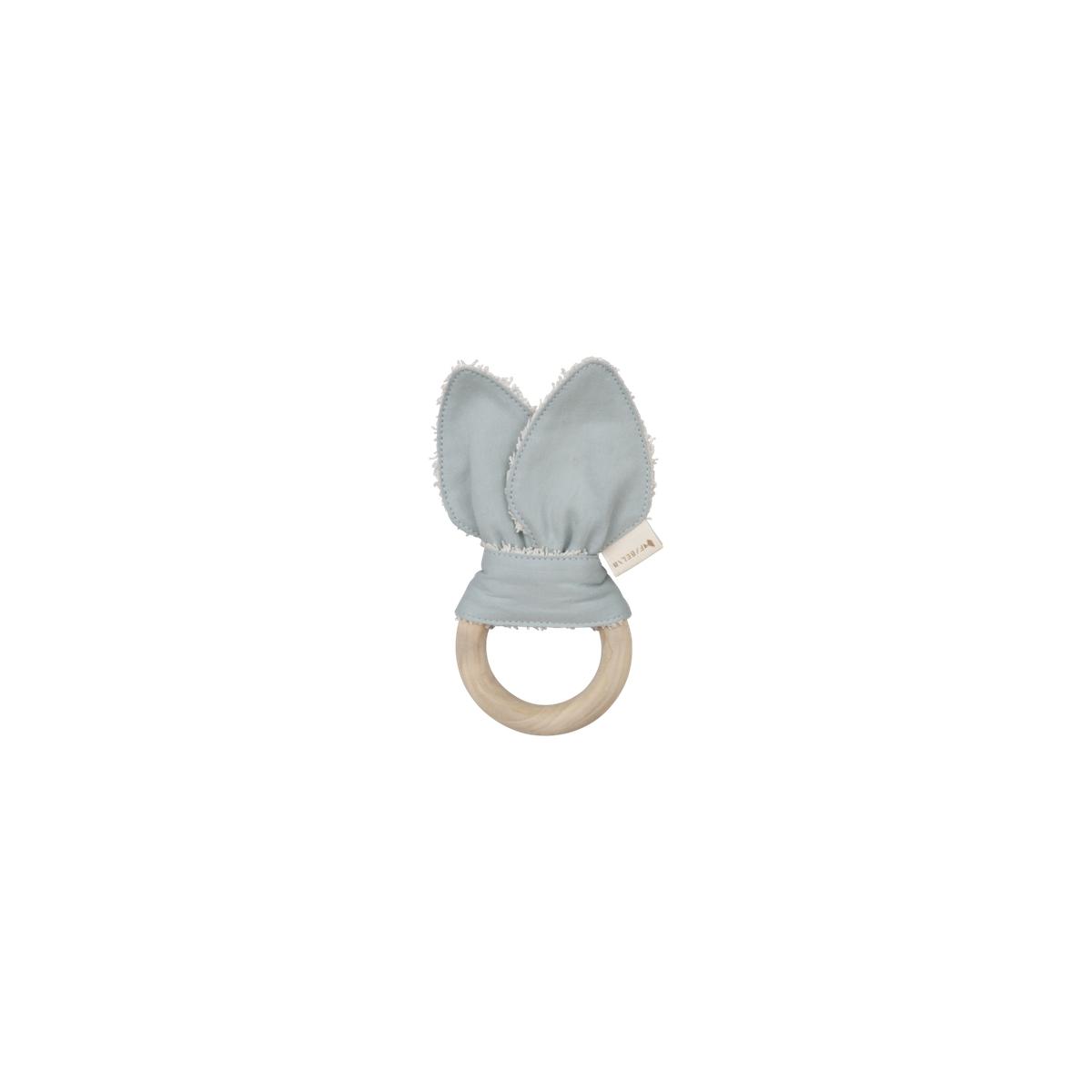 Fabelab animal teether cat - foggy blue